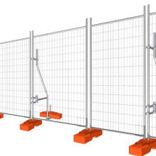 PVC coated portable security temporary construction fence panel