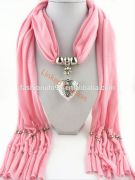 Promotional Gift Item Fashion Alloy Pendant Scarf Necklace Jewelry Wholesale soccer scarf
