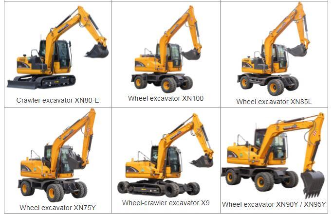 8 Ton Wheel Crawler Excavator