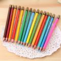 crayon aquarelle coloré en bois de haute qualité avec boîte en fer blanc