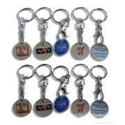 Promotional Customized Metal Keychain, Metal Epoxy Keyholder, Fashion Key Chain