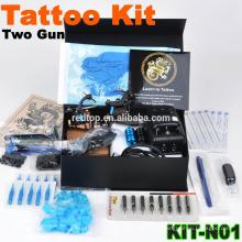 Venda kit completo da máquina do tatuagem, arma dois, novo design
