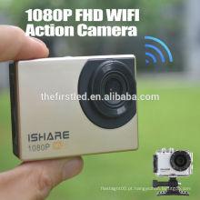 IShare S600W WiFi Ação Sport Camera FHD 1080P 30M Waterproof Capacete Sport Video Camera Mini câmera subaquática digital