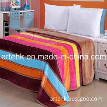 Coral Fleece Blanket with 2013 Rainbow Design (YJ-1558)