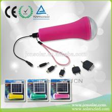 China preço competitivo USB levou tocha solar com lanterna led