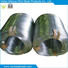 Alambre de hierro galvanizado con bobina grande