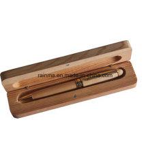 Jeu de stylo à bille en métal en bois de Qualiy élevé pour le cadeau d'affaires