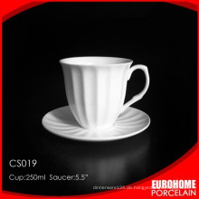 Eurohome Fabrik Großhandel Botschaft Gestaltung Keramik Tasse mit Untertasse