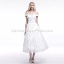 Лучшее Качество Продаж Чистый Белый Off-Плечи Длинные Мусульманин Вечернее Платье