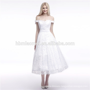 Best Quality Sales For Pure White Off-Shoulder Long Muslim Evening Dress
