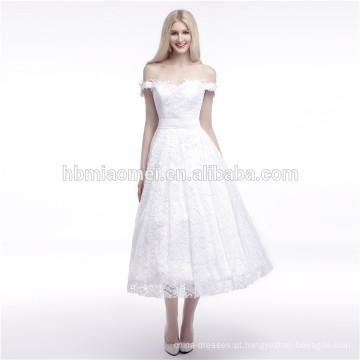 As melhores vendas da qualidade para o vestido de noite muçulmano longo branco Off-Ombro puro