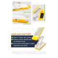 Design de moda proteção para os olhos dobrável candeeiro de mesa solar com forte e poderoso led