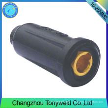 Acessórios de soldagem argônio 10-25mm2 conector de cabo fêmea