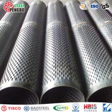 Tubo de filtro com fenda de ponte de aço inoxidável