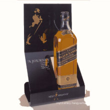 Black Acrylic Whisky Display Holders, Lucite Liquor Bottle Display