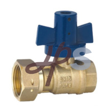 forged brass ball valve with aluminum lockable handle for water meter