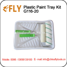 White Plastic Paint Tray Set