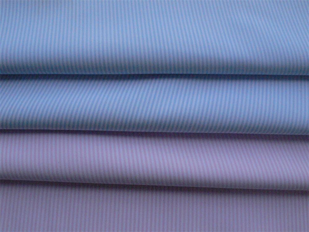 CVC Liquid Ammonia Finished Yarn Dyed Fabric for Shirt