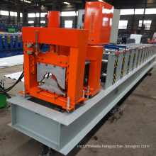 China manufacture africa metal container glazed aluminum tile making profile channel steel roof ridge cap roll forming machine