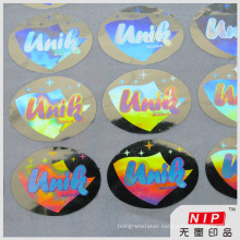 Custom 3D Holographic Decals Stickers with Sequential Number Printing