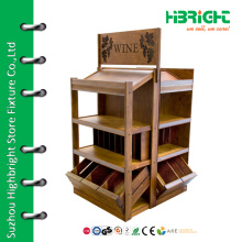 High quality multipurpose wooden display rack