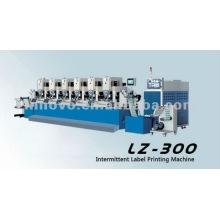 Máquina de impressão intermitente da etiqueta da cor dos seis (LZ-300)
