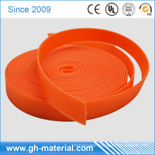 Fabricant lumineux orange couleur pvc enduit nylon et polyester sangle