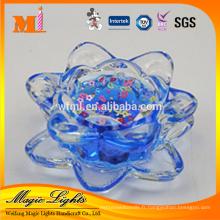 bougie de félicitations de cire de gel éco-parfumée de qualité supérieure dans le lotus transparent de jakarta