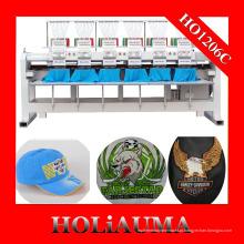 Fábrica personalizada A melhor máquina de bordar seis cabeças para Cap / t-shirt / flat garment Bordados