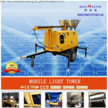 diesel mobile light tower  with 10kw generator