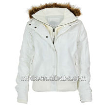 white softshell casual women down jacket