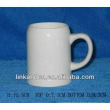 Haonai 15oz white blank bulk white ceramic beer mug