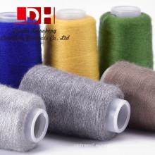 Suéter suave de las mujeres material de lana larga Plush Pullover O-cuello Suéter de las mujeres Mink Cachemira Faux Fur Mink cashmere hilado