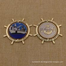 Custom Metal Soft Emaille Usn Challenge Münze mit Epoxy