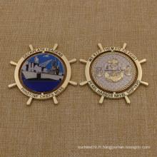 Monnaie en métal moulé Custom Usn Challenge Coin with Epoxy
