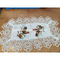 Fh-117 Lace Table Cloth Chicken Design for Easter