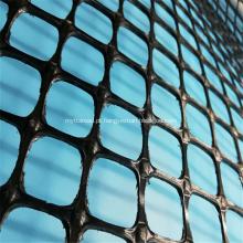Geogrelha plástica de polipropileno de polipropileno trecho bidirecional