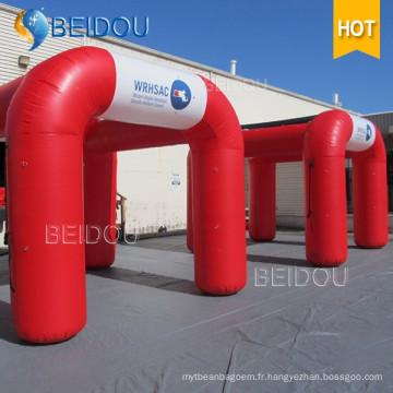 Tente d'événements de mariage en plein air Tente de camping gonflable Carré Cube Tente