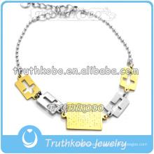 2015 Christ Jewelry Our Saint Jesus Medal Wholesale Cross Boble Bracelet for European