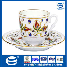 12pcs drink ware for 6 person use kitchen&dining porcelain teaware coffee cup&saucer set