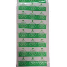 Etiquetas feitas sob encomenda verdes cortadas da impressão do logotipo / etiqueta da parede / etiqueta do papel