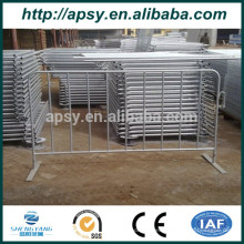 Wholsale Metal Galvanized o Powder coated modular barrier control barrier Barricadas peatonales