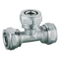PEX AL PEX Pipe Fittings Palsu Mampatan Brass Equal Tee