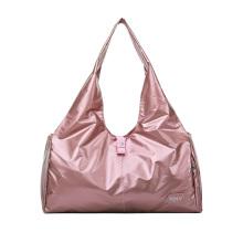 Waterproof Large Capacity Pink Sport Gym Duffle Duffel Bags Customized Logo Women Travel Bags Shoe Compartment