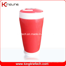 Copo de dupla camada de plástico 300ml com alça (KL-5015)