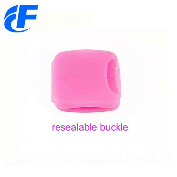 Customized fabric festival resealable wristband lock