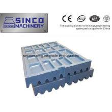 Brecher mit Ersatzteil-Backenplatte für Shanbao Metso