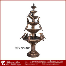 Large size Outdoor Bronze Animal Bird Fountain