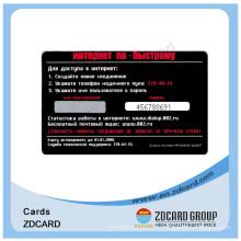 Cartes de visite en plastique transparentes imprimées en PVC noir