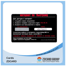 Printed PVC Black Clear Plastic Business Cards